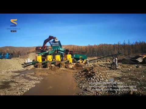 SLK-GT300 Mega Gold Washing Plant In Russia