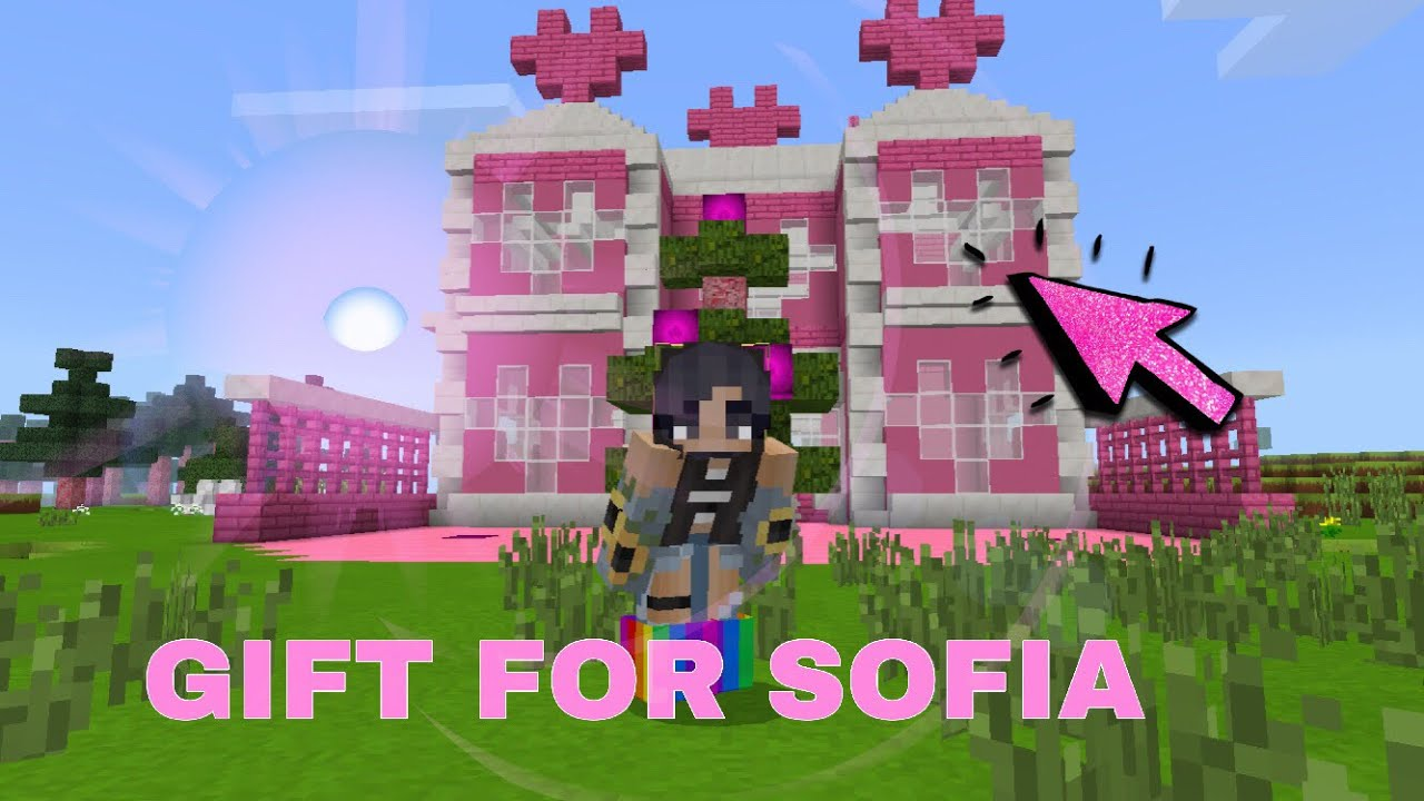 Gift For Itz Sofia Minecraft Pink House Speed Build Kawaii World Res Pack Youtube