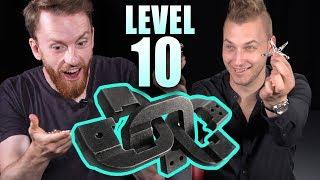 Solving Level 10 PUZZLE with Steven Bridges! Lock puzzle challenge!