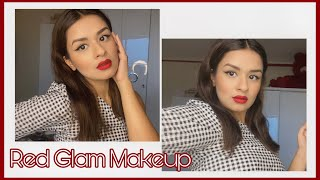 Red Glam Makeup Look| Avneet Kaur| 2020