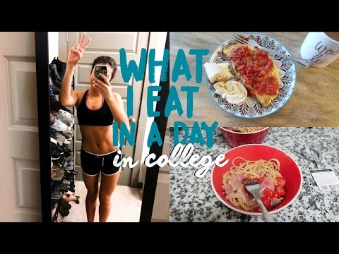 WHAT I EAT IN A DAY IN COLLEGE | Natalie Barbu