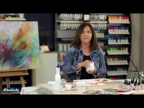 Schmincke Tutorial: Abstrakte Malerei mit Strukturpasten und flüssigen Acrylfarben