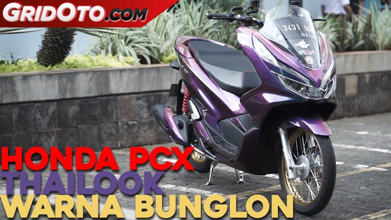 Honda PCX Tampil Beda Pakai Warna Bunglon Modifikasi Motor