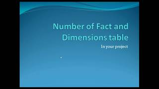 DWH Interview Question :Number of  fact and Dimension table in project|TechCoach