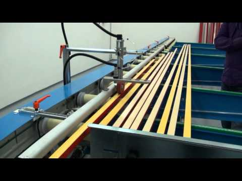 Automatic Spraying Aluminium/Wooden Profiles and Schubox Gas Catalytic IR Curing Video
