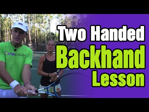 TWO Handed BACKHAND Tennis Lesson - Key Elements!