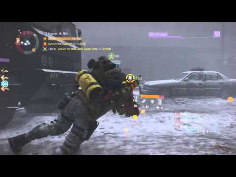 The Division STICKY BOMB SENTRY'S CALL! Best Dark Zone Build Manhunt Gameplay PS4