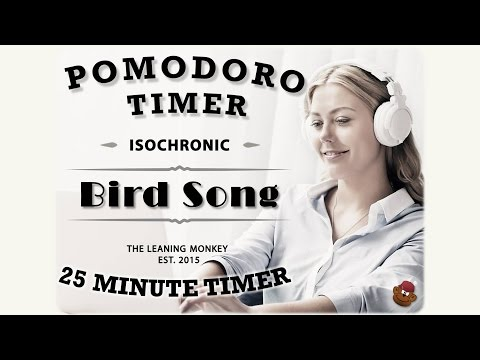 Isochronic Pomodoro Timer: Bird Song (A 25 Minute Work Timer)