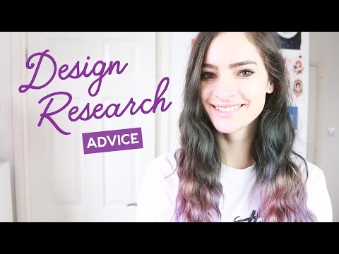 Design school research project advice | CharliMarieTV