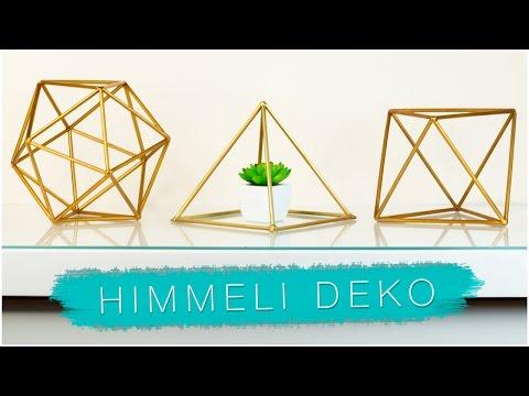 Diy geometrische zimmer deko mit trinkhalmen himmeli for Geometrische deko