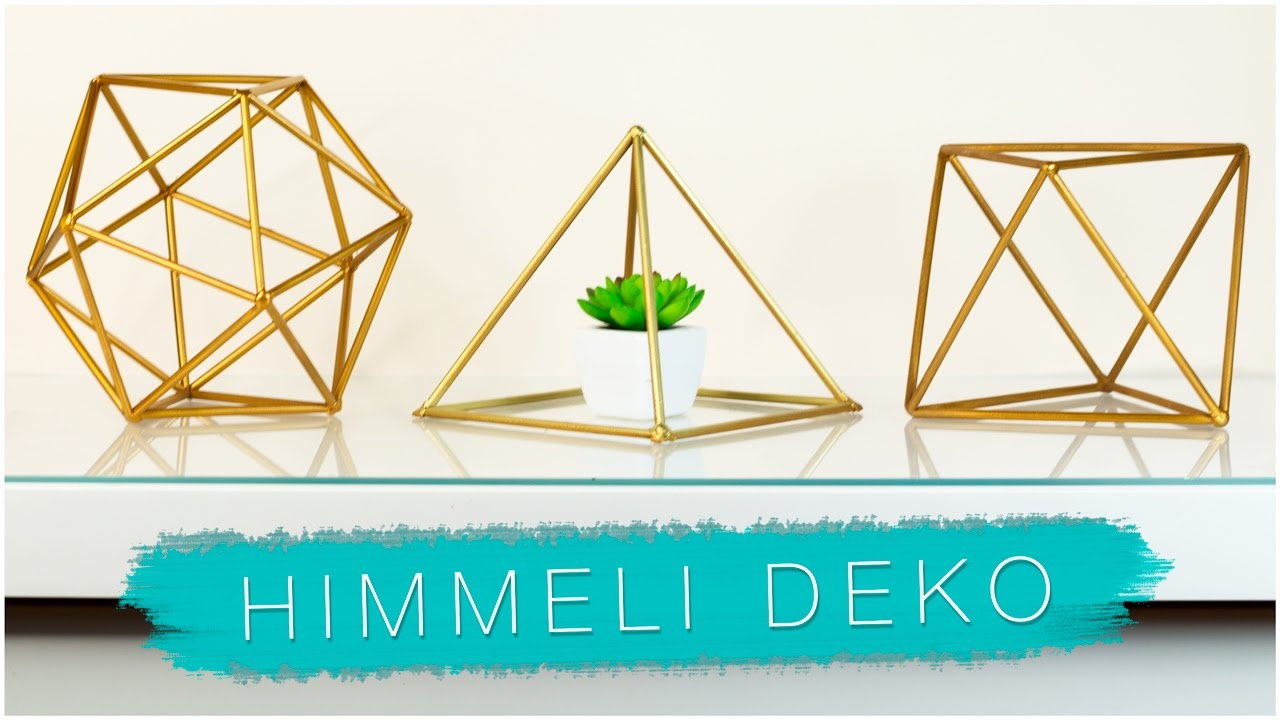 diy geometrische zimmer deko mit trinkhalmen himmeli. Black Bedroom Furniture Sets. Home Design Ideas