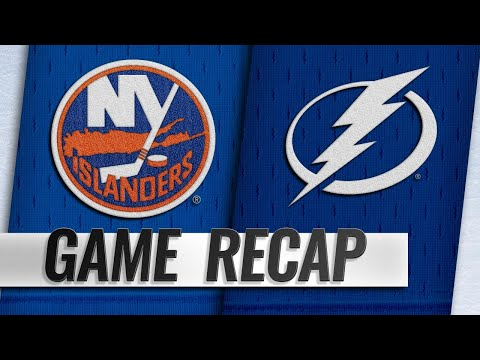 Johnson, Vasilevskiy help hold off Isles in 4-2 win