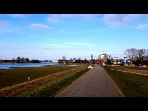 The river the IJssel and the city of Zutphen