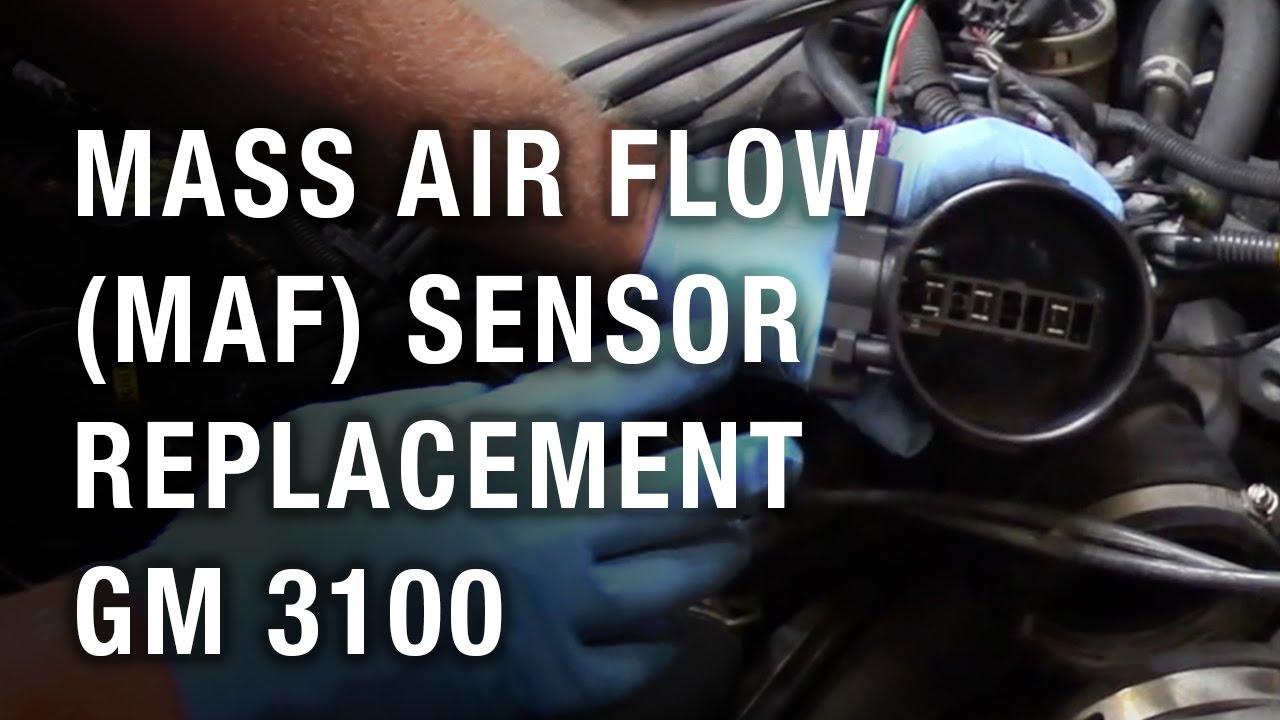 mass air flow maf sensor replacement gm 3100 [ 1280 x 720 Pixel ]