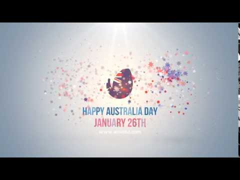 happy australia day logo by honypix videohive after effects