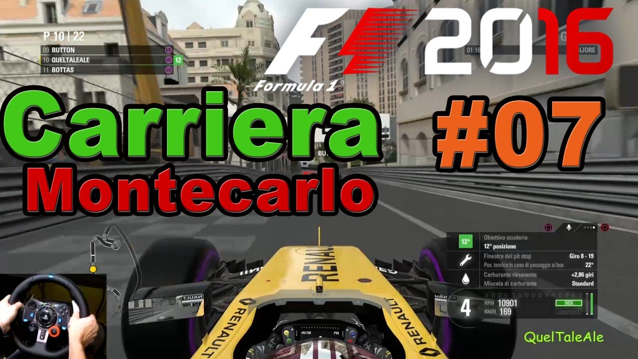 f1 2016 ps4 gameplay ita logitech g29 carriera 07. Black Bedroom Furniture Sets. Home Design Ideas