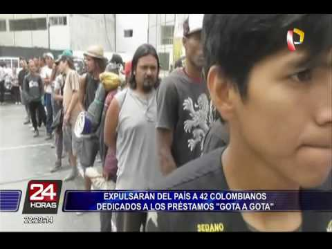 Expulsarán del país a 42 colombianos dedicados a préstamos 'gota a gota'