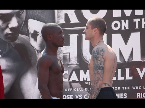 RICKY BURNS v PRINCE OFOTSU - OFFICIAL WEIGH IN VIDEO (FROM HULL) / RUMBLE ON THE HUMBER