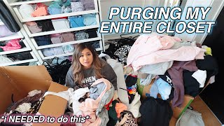 PURGING MY ENTIRE CLOSET!! *10 year old makeup, clothes & more*