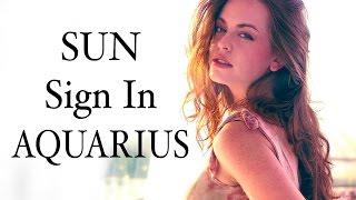 AQUARIUS SUN SIGNS
