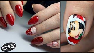 Красный маникюр Снежинка на ногтях Рисунок гель лаком