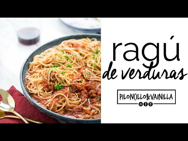 Ragu de verduras, receta de salsa para pasta vegana