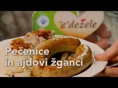 Recept: Pečenice in ajdovi žganci