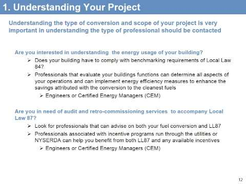 NYC Clean Heat Webinar: Soliciting & Selecting a Conversion Proposal