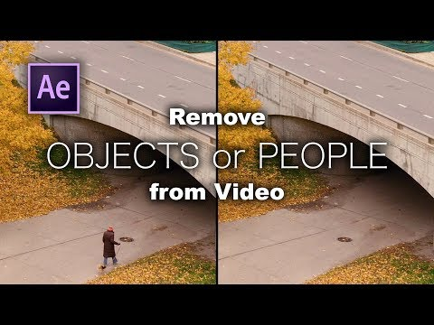 How To REMOVE OBJECTS From Video With Content-Aware Fill In After Effects.