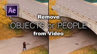 How to REMOVE OBJËCTS from Video with Content-Aware Fill in After Effects.