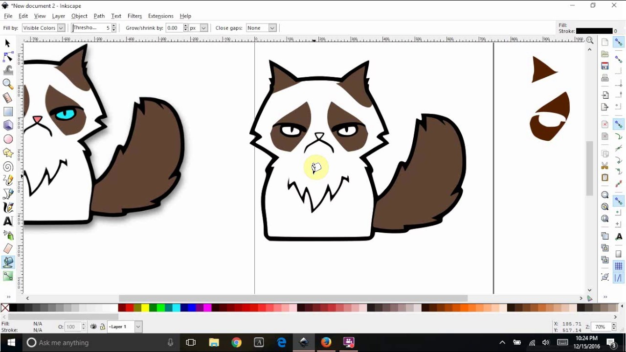 inkscape trace clipart to svg and create multiple colored layers rh youtube com openclipart inkscape openclipart inkscape