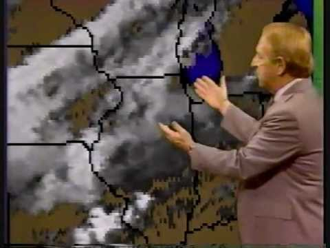 NBC5 Chicago 10 o' clock  August 1985 John Coleman Weather Report
