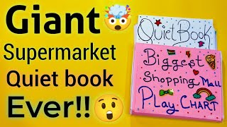Biggest QUIET Book Ever! 🤯😲 Diy Shopping Mall Quiet book 🛒Shopping Mall quiet book! Quiet book Play🤓