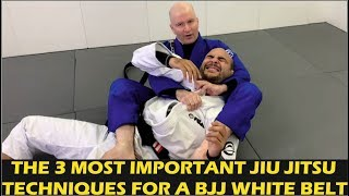 The 3 Most Important Jiu Jitsu Techniques For A BJJ White Belt by John Danaher
