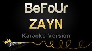 zayn befour karaoke version
