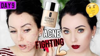 CLINIQUE ACNE SOLUTIONS FOUNDATION {First Impression Review & Demo!} 15 DAYS OF FOUNDATION