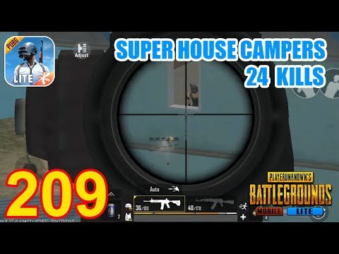 Epic Fight Between Super House Campers   PUBG Mobile Lite 24 Kills