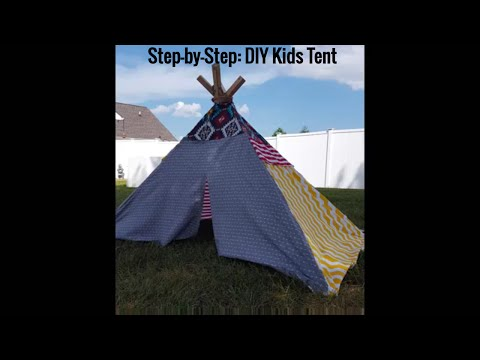 DIY Kids Indian TeePee Play Tent -Craft Project (Step-by-Step)
