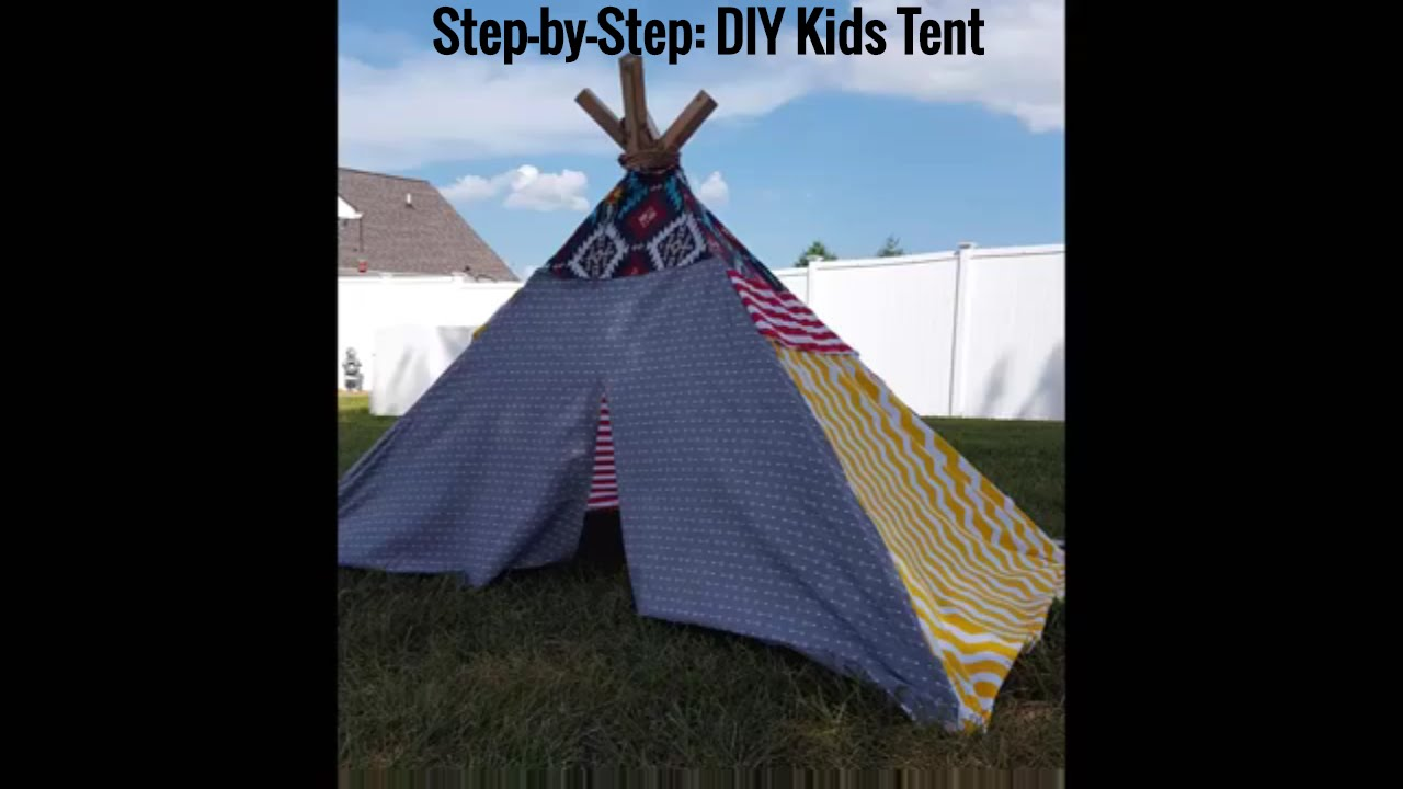 DIY Kids Indian TeePee Play Tent -Craft Project (Step-by-Step) - YouTube & DIY Kids Indian TeePee Play Tent -Craft Project (Step-by-Step ...