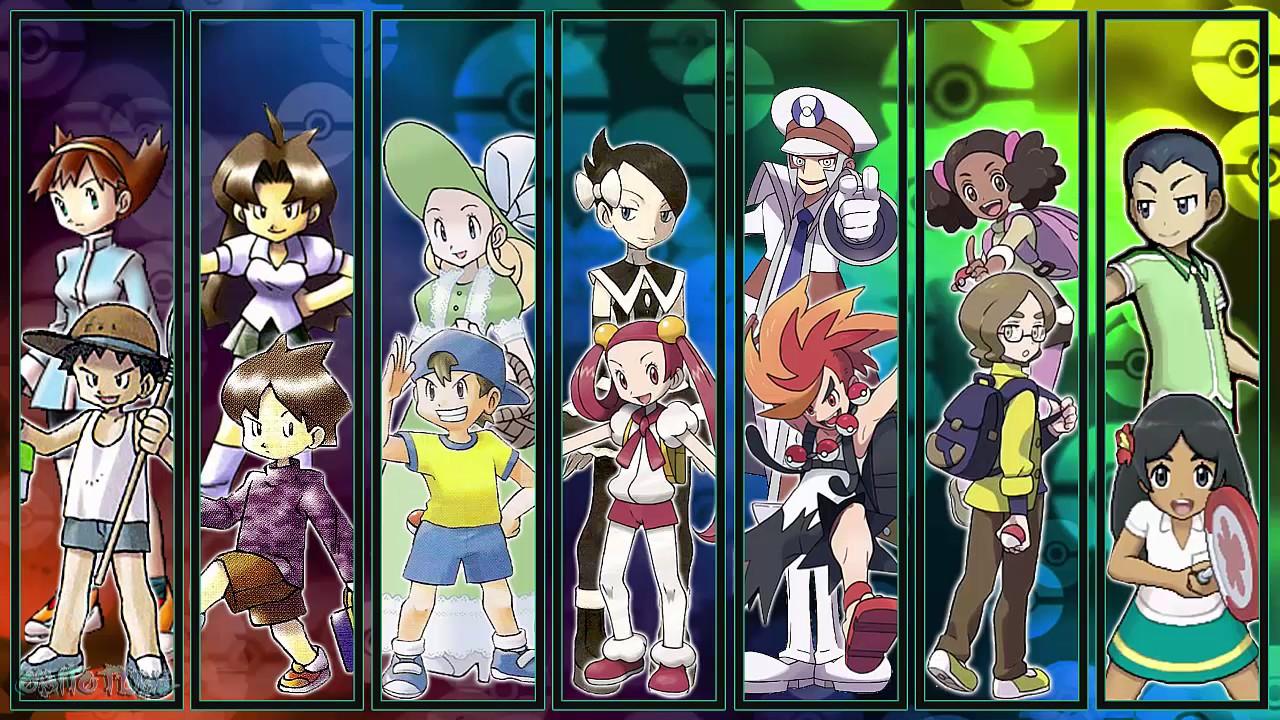 all pokémon trainer battle themes gen 1 7 youtube