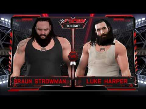 WWE 2K17 Raw 3 (Luke Harper Vs Braun Strowman)