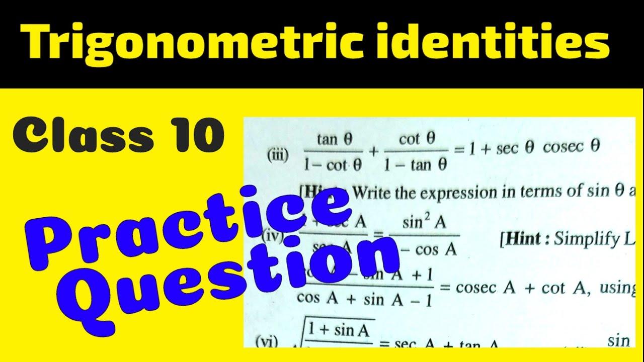 Trigonometric Identity class 10   Practice Question   Ncert Ex 8.4 Q5 (iii)