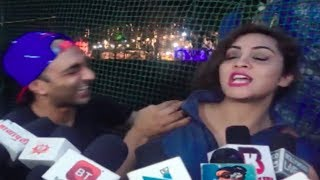 Arshi Khan's ANGRY REACTION when Aakash Dadlani gets close!