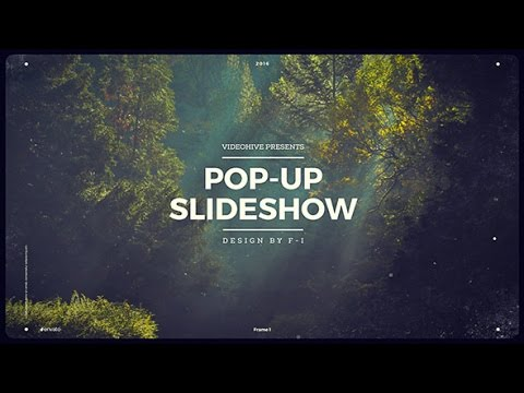 Pop-Up Slideshow | After Effects Template | Openers