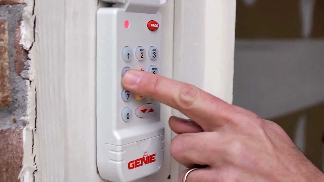 Genie Garage Door Opener Keypad Programing Instructions Youtube