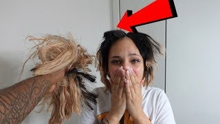 CUTTING GIRLFRIENDS HAIR PRANK (GONE WRONG)