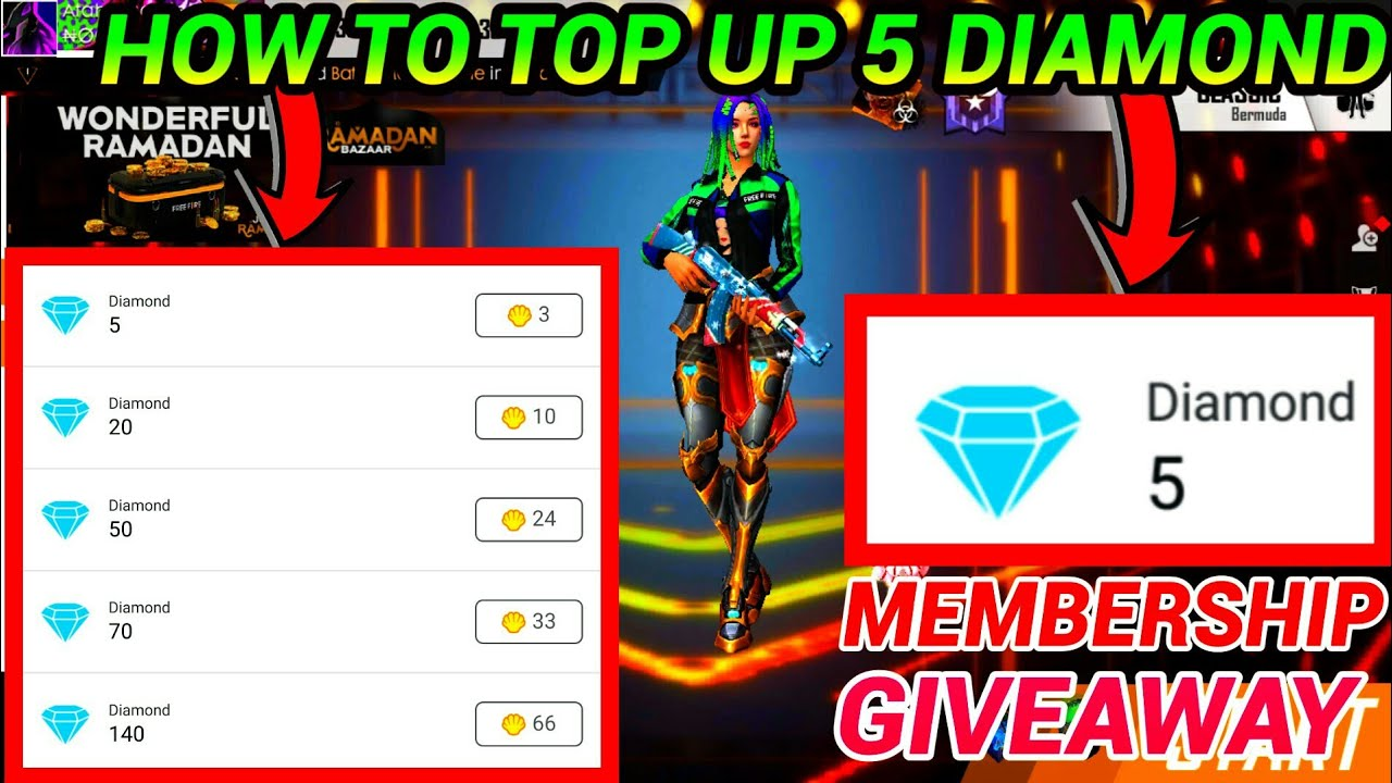 HOW TO TOP UP 5 DIAMOND | GARENA OFFICIAL WEBSITE | BUY 5 DIAMOND