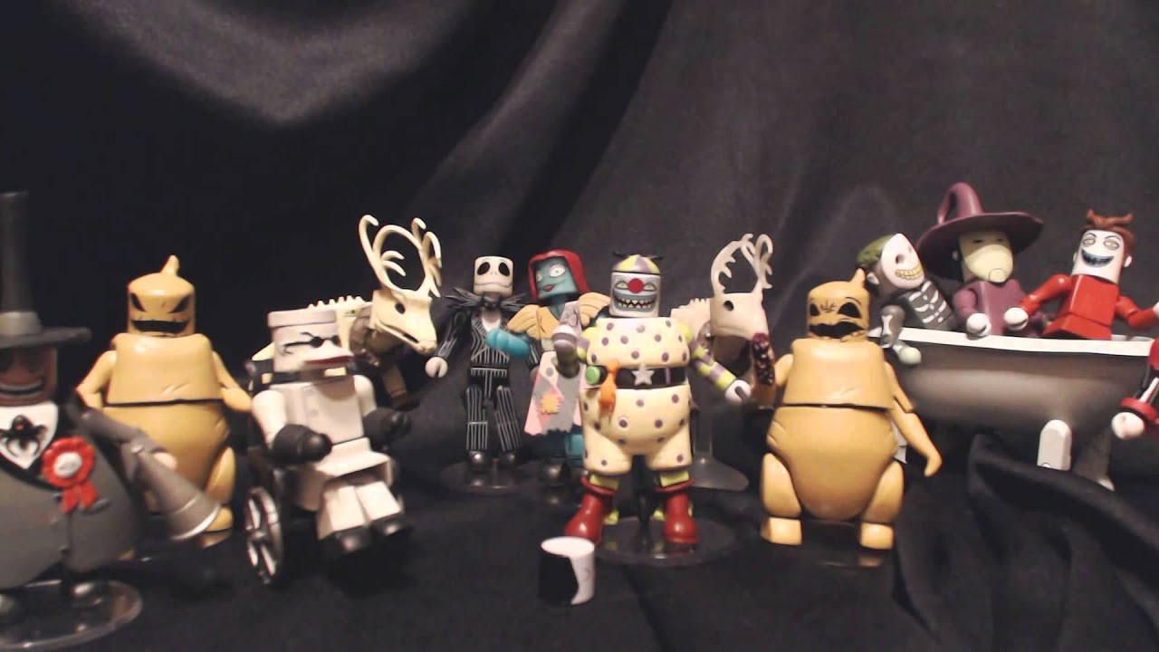 diamond select toys update nightmare before christmas minimates