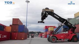 RDT container uploading operation in TCG (Spain)