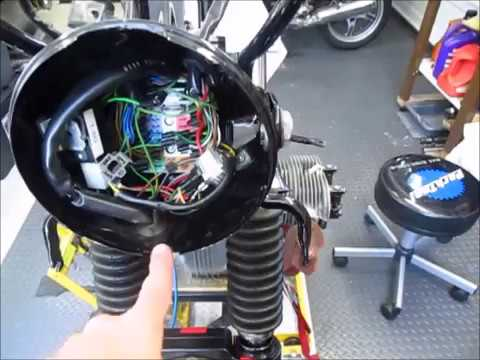 1977 BMW R100RS Wiring Harness Routing - YouTube